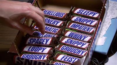 Chocolate fans can now buy friends a 'GROUCHY' Snickers bar