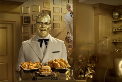 Dueling Colonels compete for dominance in KFC Super Bowl spot
