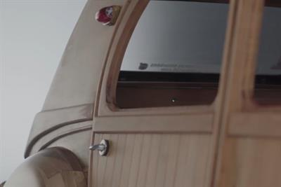 Citroen enlists a master cabinet maker to create a wooden car