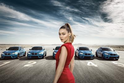 Gigi Hadid is the ball in BMW's high-velocity shell game