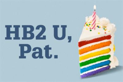 "NC governor gets ""bathroom bill"" ad for birthday"
