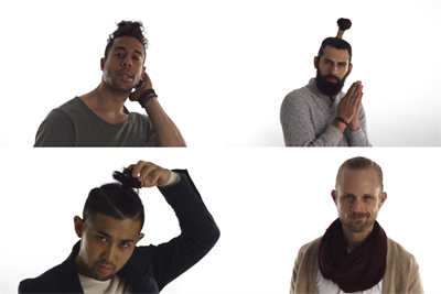 Red Robin torpedoes hipster man buns in ad for breadless burgers