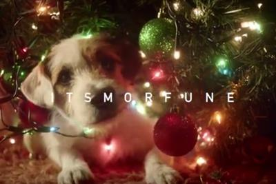 """""""Misfortune"""" becomes """"it's more fun"""" in adorably nerdy Scrabble holiday ad"""