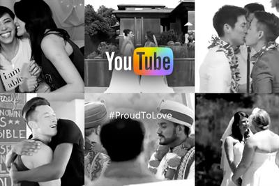 """YouTube's """"#ProudToLove"""" video champions marriage equality"""