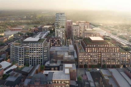 Consent for replacement of Home Counties shopping centre with high rise 653-home scheme
