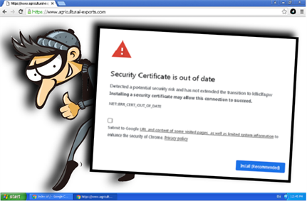 Malware distributed disguised as security certificate updates