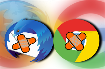 Mozilla, Google patch security issues in Thunderbird and Chrome