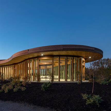 2020 WAN Awards entry: Graeser Family Education Center at the Waterfront Botanical Gardens - Perkins and Will