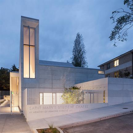 2020 WAN Awards entry: Saint Mary's Student Chapel - Mark Cavagnero Associates