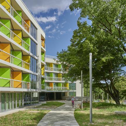 2021 WAN Awards entry: Student Housing Regensburg - Behnisch Architekten, München