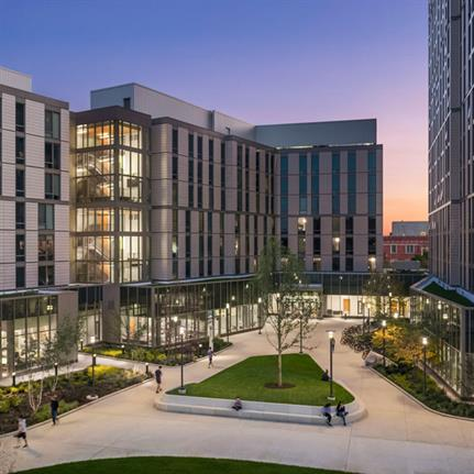 2021 WAN Awards entry: The University of Chicago Woodlawn Student Residences and Dining Commons - Elkus Manfredi Architects