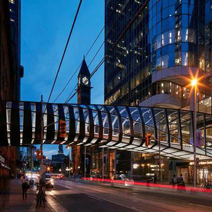 2019 WAN Awards:  CF Eaton Centre Bridge - WilkinsonEyre with Zeidler