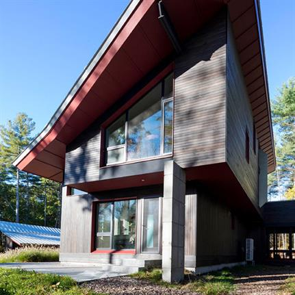 2019 WAN Awards: Harvard MA - Energy Plus House - Paul Lukez Architecture