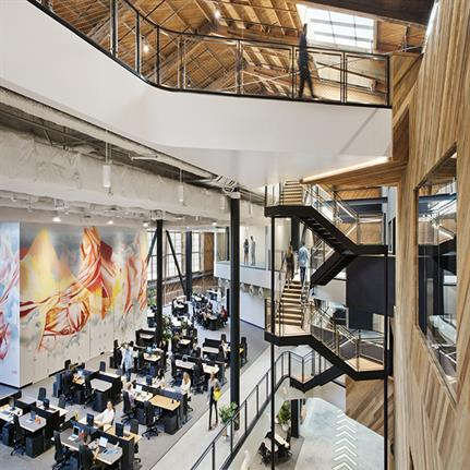Historic hangar converted to Google office