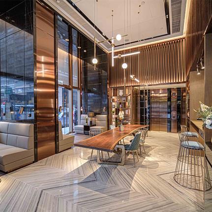 2021 WIN Awards entry: MAZE Hotel - Hirsch Bedner Associates