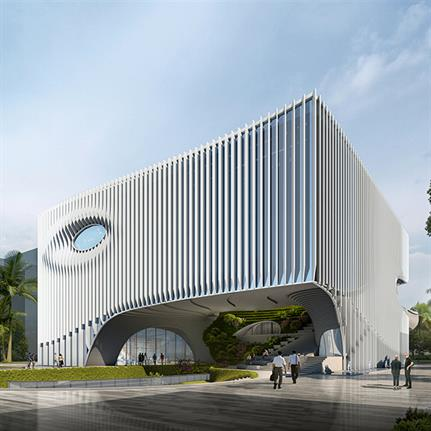 2021 WAN Awards entry: Shenzhen Internation South China Logistics Park Exhibition Center - Capa Architecture Design Consultant (Shenzhen) Ltd, USA