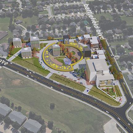 2021 WAN Awards entry: The Circle: Low-Density Metropolitanism - UA Community Design Center + Marlon Blackwell Architects