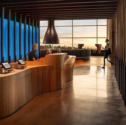 2020 WIN Awards entry: Alaska Airlines Flagship Lounge - Graham Baba Architects