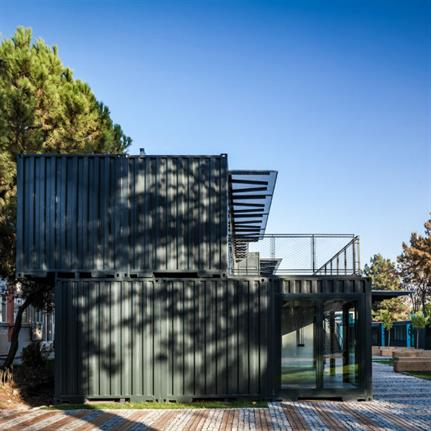 Shipping containers converted to campus