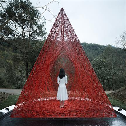 'Shrine of Whatslove': Robots build art inspired structure in carbon fibre