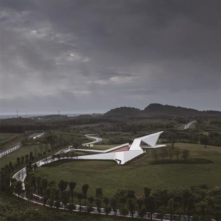2020 WAN Awards entry: Crane Pavilion-Folded Flight - GBBN Architects, Inc