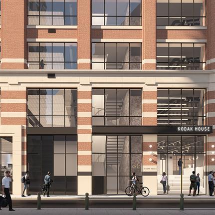 Green light for transformation of Grade II listed Kodak House for Barr Gazetas