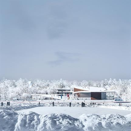 Design for the new Senezh Management Lab Campus Competition in Russia presented by CHYBIK + KRISTOF