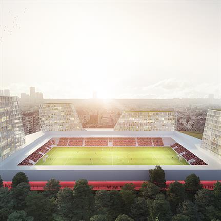 Football club Excelsior presents plan for stadium renovation to Rotterdam city council