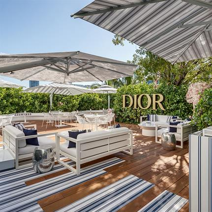 Poggesi shades Dior Cafè's garden terrace in Miami
