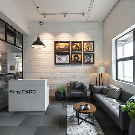 Sony DADC's interactive office by interior designer Ashleys
