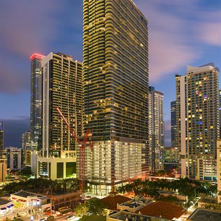 Miami's tallest condominium, the Brickell Flatiron