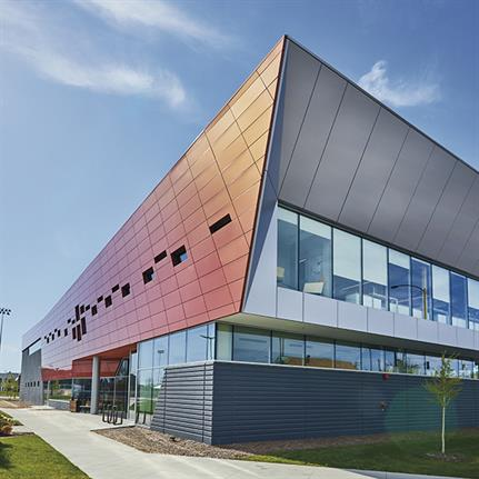 Chicago's new $17m health centre cloaked in Autumnal colours