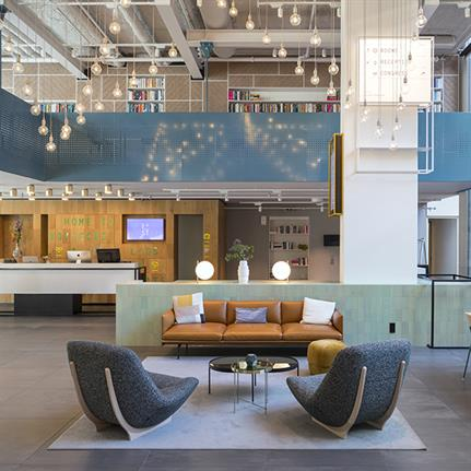 Former student hospitality campus turned into Hotel Casa Amsterdam