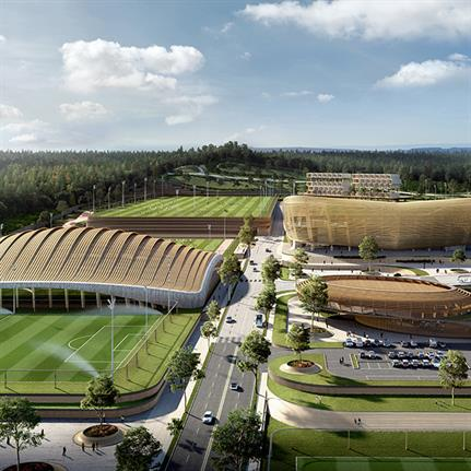 Korean National Football Centre's winning master plan designed by UNStudio