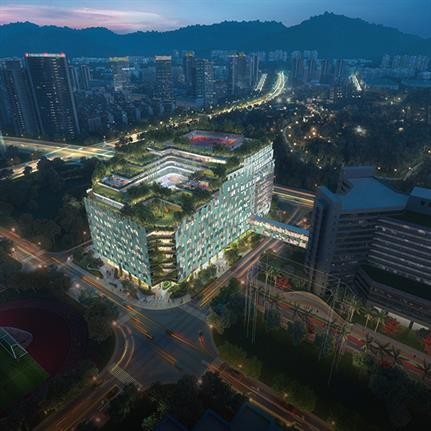 B+H win first place for new Shenzhen Children's Hospital and Science & Education Building design