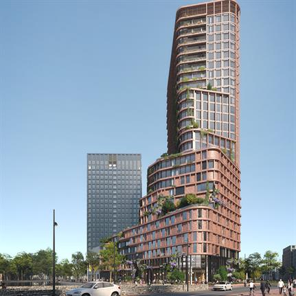 Brink Tower: Mecanoo wins with sustainable and vertical neighbourhood in Amsterdam