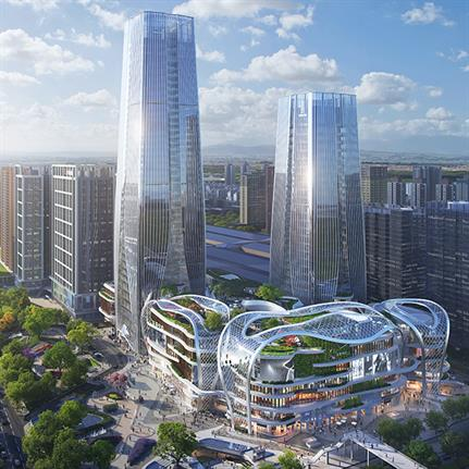Aedas praised for Xi'an city's urban oasis