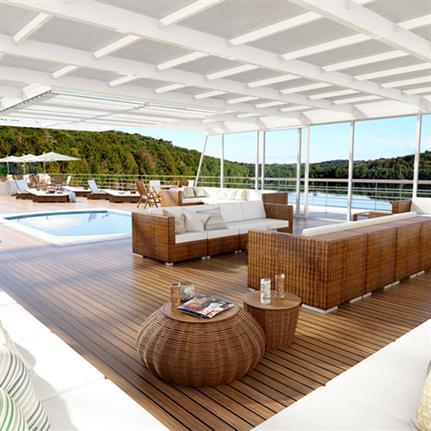 East Asian river cruise ship designed for European tourists