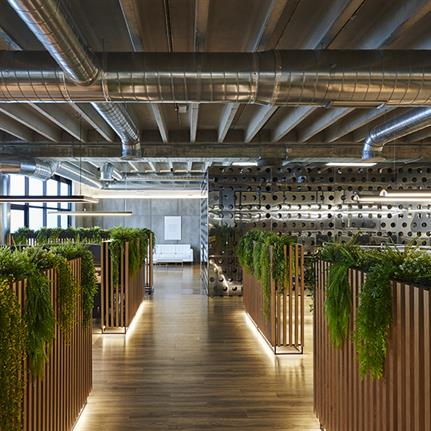 Spain's new GSS Security office interiors designed by Alex March Studio