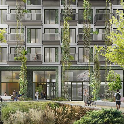 LEVS architecten design first social housing tower in Amsterdam's Zuidas district