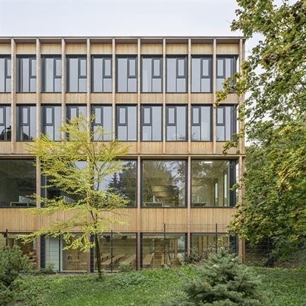 SWAP Architekten's digitised timber construction on Viennese University