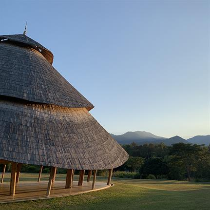 Thailand's bamboo meditation cathedral and Sunset Sala by CLC Architects
