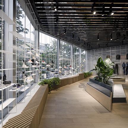 Skatepark inspires Lukstudio's Scandinavian flagship store design in Shanghai