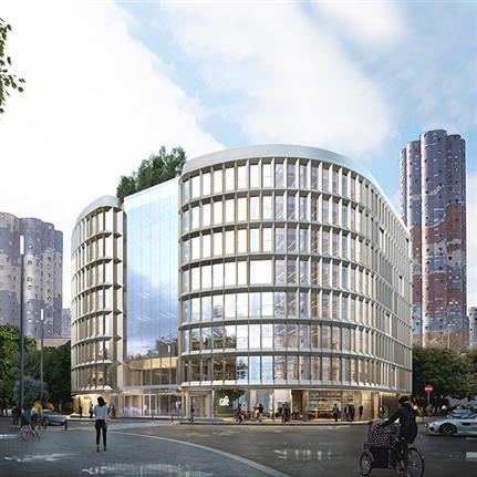 Design duo unveil design for an ambitious Parisian post-war social housing project