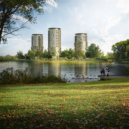 Brabantbad: KCAP's three new residential towers in the Netherlands