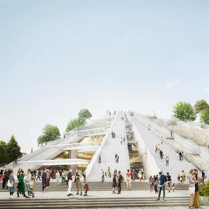 MVRDV revitalises Pyramid in Tirana, Albania