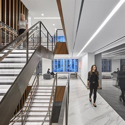 Mizuho America's Japanese inspired headquarters in NY