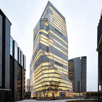 IM Shanghai's cascading facade adds to the city's mountainous skyline