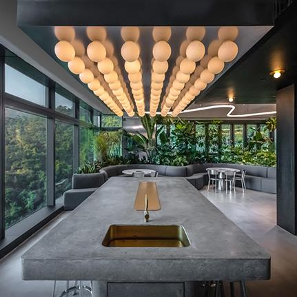 Collective design oasis in the sky for Tatler Asia Hong Kong HQ