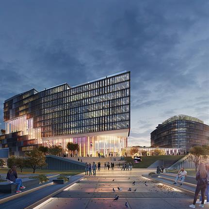 UNStudio design green office campus for JetBrains in Russia